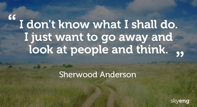 Цитаты Шервуда Андерсона