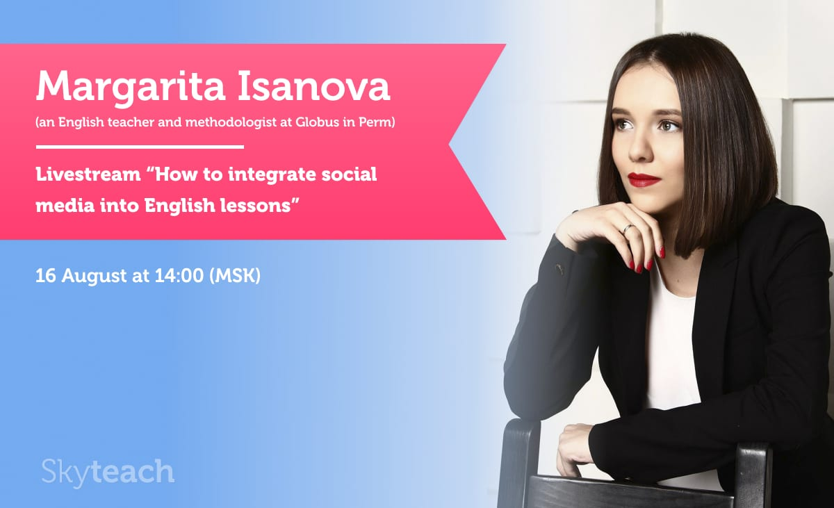 "Livestream ""How to integrate social media into English lessons"""