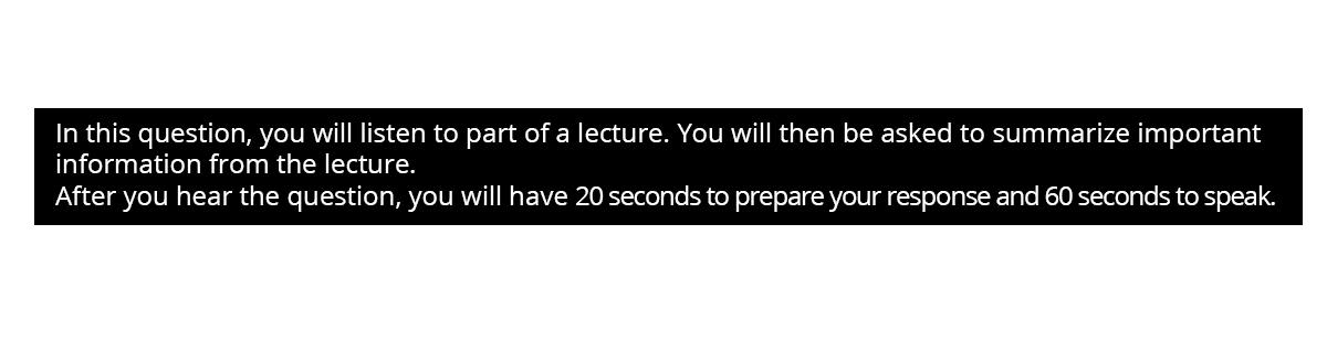 Speaking in TOEFL IBT