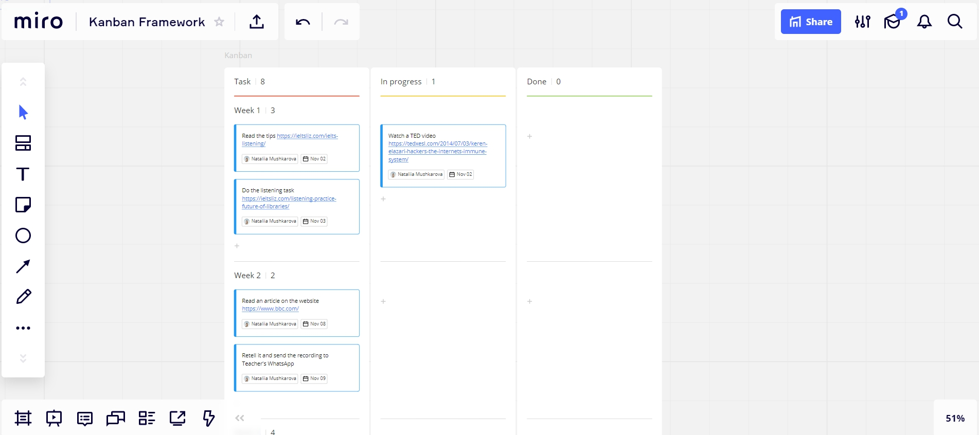 Настольные игры и организация проектной и внеклассной работы на онлайн доске Miro