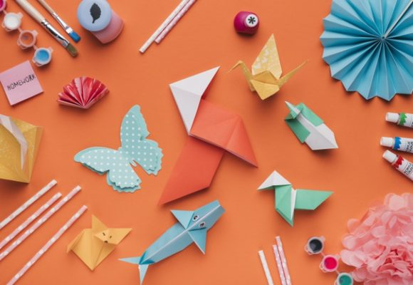 Using origami for vocabulary practice