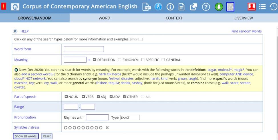 Корпусы текстов в преподавании английского языка: функции и инструменты