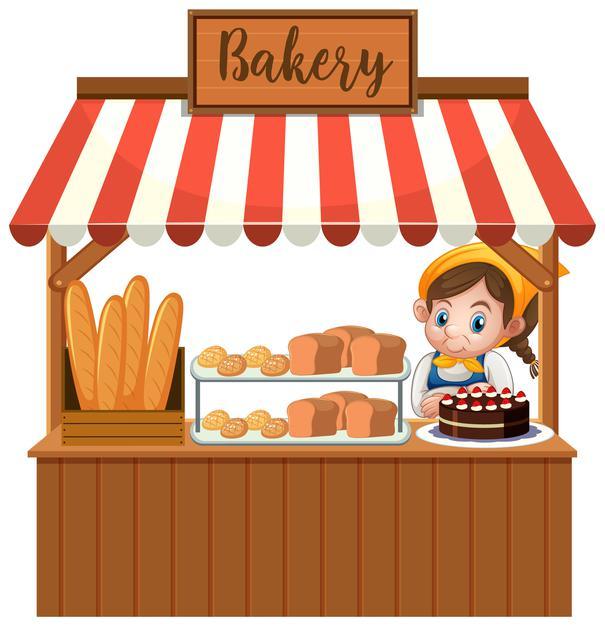 Shops (worksheet for kids)