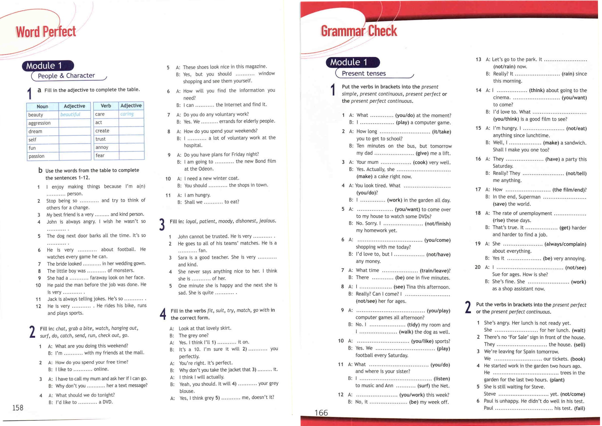 Учебник Spotlight, раздел Word Perfect & Grammar Check