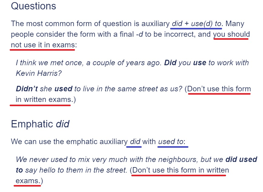 Лексический подход при подготовке к экзаменам