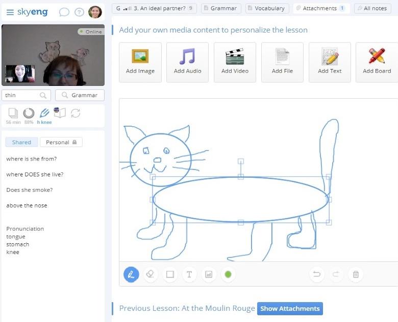 инструменты на онлайн-платформе Skyeng
