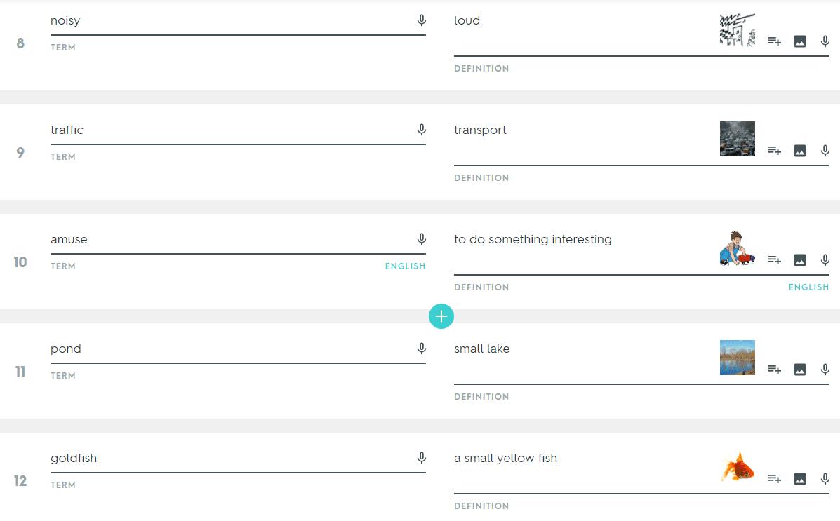 Работа с веб-ресурсом Quizlet
