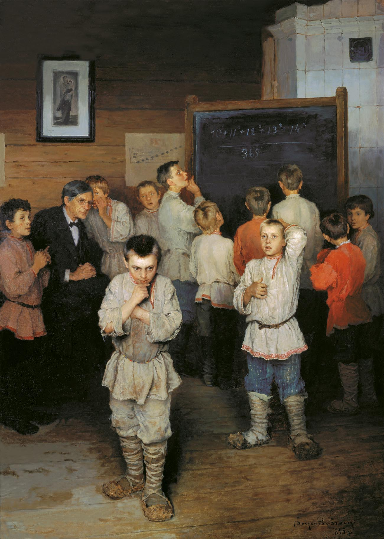 Николай Богданов-Бельский. Устный счёт. В народной школе С. А. Рачинского