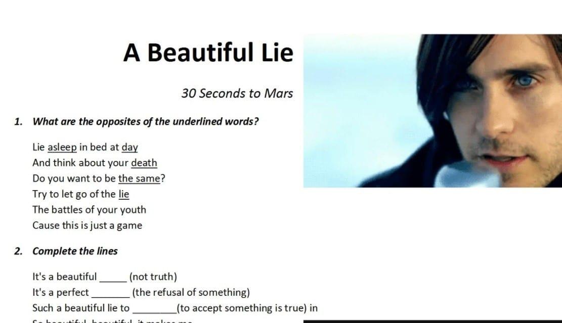 Песни на уроках английского