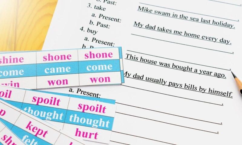5 способов помочь ученику выучить и не забыть неправильные глаголы
